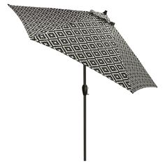 target patio umbrella in black and beige stripes decorating