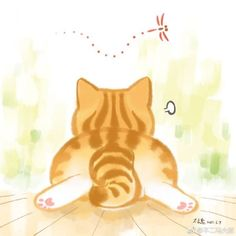 Cat Pose, Curious Cat, Ginger Cats, Cat Drawing, Cat Design, Cute Illustration, Crazy Cats, Cat Art, Cats And Kittens