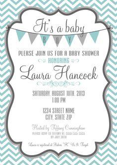 IT'S A BOY Baby Shower DIY Printable Invitation by PlushPrintables