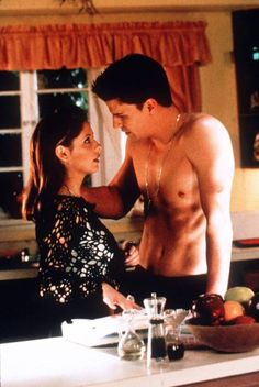 Buffy the vampire slayer with Angel. OMG I actually cried when Angel went back to being a bad and dark vampire and then when Buffy had to kill him and then when...ok I cried more than once over him lol
