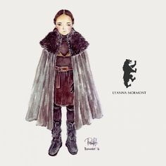 Lady Mormont Game of Thrones beautiful illustration