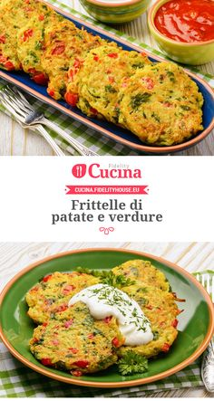 Frittelle di #patate e #verdure