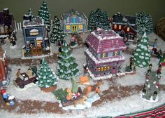 christmas village ceramics pottery ceramics polymer clay this is pretty amazing i wonder if i could do something like this