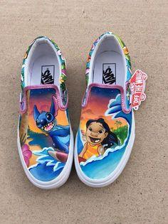 Vans Shoes, Sneakers, Old Skool & Skate Shoes Hype Shoes, On Shoes, Me Too Shoes, Vans Shoes For Sale, Vans Shoes Women, Disney Painted Shoes, Disney Shoes, Disney Vans, Custom Vans Shoes