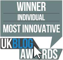 Winner of Most Innovative Blog - UK Blog Awards 2016