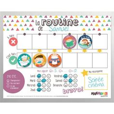 My School Days Routine magnet kit - Magnets - Magnetic Board - Routine - Elementary school - Homework - Lessons - Kids - Child - Minimo Routine Chart, After School Routine, School Routines, Daily Routines, Babysitting Activities, Daily Activities, Chore Magnets, School Days, Teaching Kids