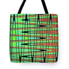 Drawing Abstract #5984wtct Tote Bag by Tom Janca.  The tote bag is machine washable, available in three different sizes, and includes a black strap for easy carrying on your shoulder.  All totes are available for worldwide shipping and include a money-back guarantee.