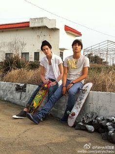 Sehun & Kai - Calvin Klein Jeans Photoshoot on Jeju Island for Vogue Girl and GQ Korea Magazines Kyungsoo, Chanyeol, Ulzzang, Exo 2014, Exo Facts, Solo Pics, Kim Jong In, Kdrama Actors, Exo Kai
