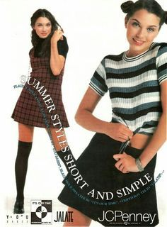Short & simple summer styles ad from JC Penny's via 1994. I had these clothes