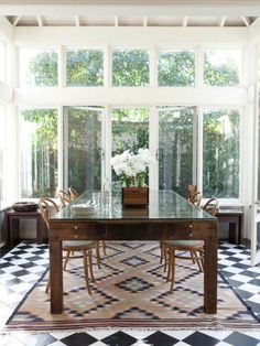 Light and airy dining. Gorgeous and sunny during the day. Fairy lights at night.
