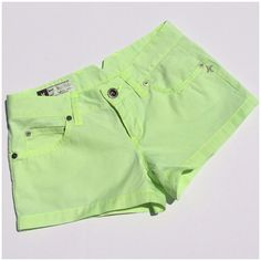 HURLEY SHORTS Classic fit low rider Hurley Int'l  shorts, neon lemon lime , awesome Summer color! (#10 Hurley Shorts