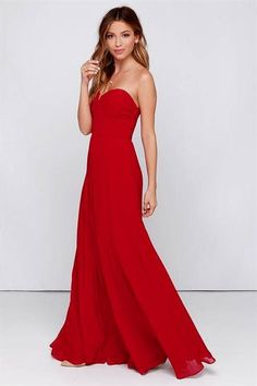 Awesome red maxi dress formal 2017-2018 Check more at http://newclotheshop.com/dresses-review/red-maxi-dress-formal-2017-2018/