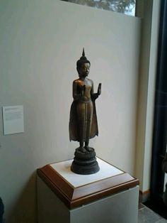 This piece is made of bronze and the person that was made is Buddha. 12/11/13 Taken by me G.D