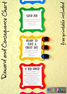 Reward and Consequence Behavior Chart for Kids