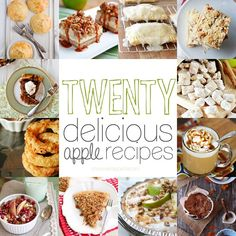 Apple Recipe Roundup - 20 Delicious Apple Recipes from One Sweet Appetite