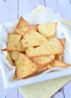 Tortilla chips met Parmezaanse kaas 1a