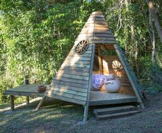 Teepee out of reclaimed lumber