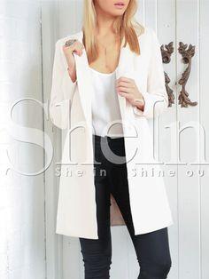 Beige Long Sleeve Lapel Coat 21.99