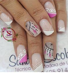 Romantic Nails, Fancy Nails, Semi Permanent, Pedicure, Nail Art Designs, Arte Floral, Pug, Beauty, Makeup