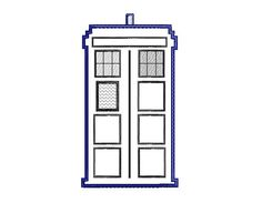 Buy 3 Get 1 Free - Embroidery Machine Design Tardis, Doctor Who Tardis