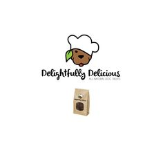 Logo design by WantedPowers for Delightfully Delicious. #logo #modern #characterdesign #design #puppies #logodesign #inspiration