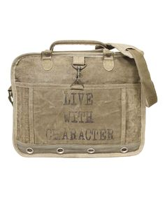 'Live With Character' Messenger Bag