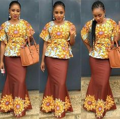 20+Ankara Skirt and Blouse Styles You Should Try Month