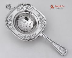 Tea Strainer Colonial Revival Frank Whiting Sterling Silver 1910