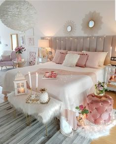 33 Stylish Bedroom Decorating Ideas To Inspire You Teenage Room Decor, Bedroom Decor For Teen Girls, Cute Bedroom Ideas, Girl Bedroom Designs, Room Ideas Bedroom, Home Decor Bedroom, Bedroom Interiors, Bed Room, Girls Bedroom Decorating