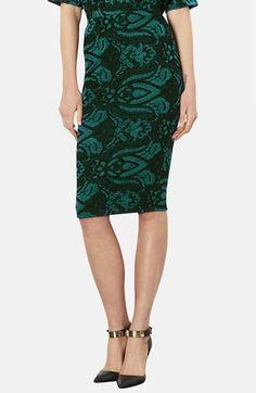 Topshop Baroque Print Jacquard Tube Skirt available at #Nordstrom