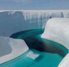 An ice canyon in Greenland