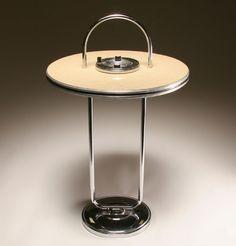 Royal Chrome Art Deco smoking table/smoke stand;