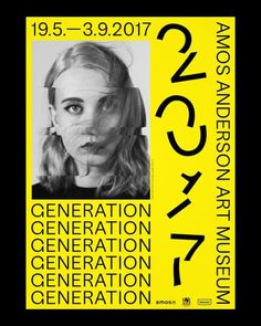 Visual identity for Generation 2017 exhibition. First in a...