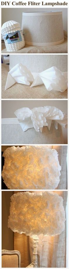 DIY Coffee Fliter Lampshade Pictures, Photos, and Images for Facebook, Tumblr, Pinterest, and Twitter
