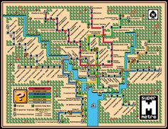 Washington DC Metro Map - Super Mario 3 Style