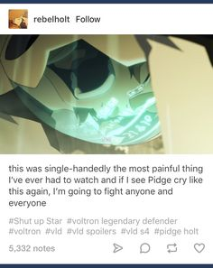 Never let Pidge hurt like this again I will die