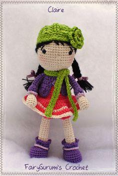 """Amigurumi - Doll hiver """"Claire"""" - Tuto Sidrun's Zoo ♡"""