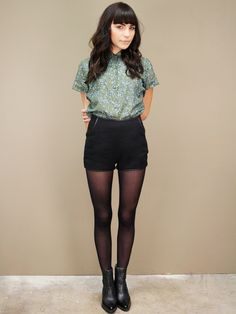 rue cambon black tweed shorts | ShopCuffs.com, $36