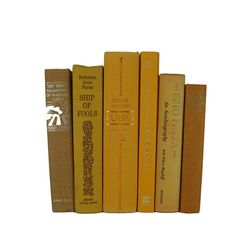 Vintage Books in Shades of Yellow and Gold Decorative Books Old Books , Yellow Wedding Decor, Book Home Decor  #DecadesofVintage #homedecor #oldbooks #vintagebookdecor #vintagebooks #interiordesign #stagingprop #bookshelfdecor #bookhomedecor #vintagehomedecor