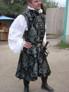 Who is this Leslie Harris goddess in Sedona? Black and Silver Men's Warlord Doublet Size by NoblesseCostumes, $750.00