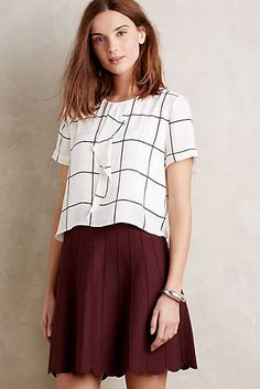 Grafico Blouse | Black & White | @anthropologie