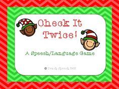 Check It Twice: A Speech/Language Game