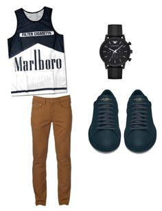 """""""walk in the park"""" by morrisdaena on Polyvore featuring Yves Saint Laurent, Urban Pipeline, Emporio Armani, men's fashion and menswear"""