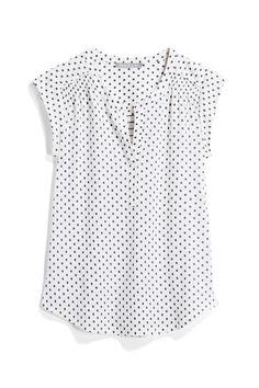 Polka dot shirt from Stitch Fix Professional Wardrobe, Work Wardrobe, Teacher Wardrobe, Girls Wardrobe, Pretty Outfits, Cute Outfits, Stitch Fix Outfits, Stitch Fix Stylist, Ideias Fashion