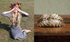 Cadena y pieza bañada en oro. Made in Barcelona. D-Lirio. http://www.d-lirio.com/