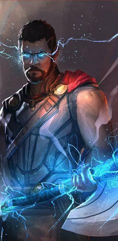 Thor, god of thunder. Marvel Dc Comics, Marvel Heroes, Marvel Avengers, Marvel Characters, Marvel Movies, Mundo Marvel, Avengers Wallpaper, The Villain, Marvel Cinematic Universe