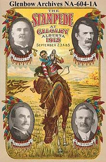 """Calgary Stampede - an annual rodeo, exhibition & festival held every July in Calgary, Alberta, Canada. The ten-day event, which bills itself as """"The Greatest Outdoor Show on Earth"""", attracts over one million visitors per year and features one of the world's largest rodeos."""