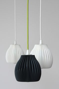 3d printed lampshades by Martin Zampach
