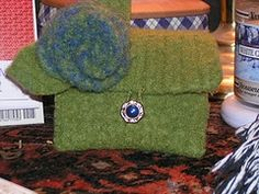 felting purses from old sweater tutorial...