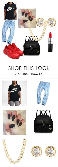 """""""Untitled #14"""" by jaesoria on Polyvore featuring NIKE, MICHAEL Michael Kors, Charlotte Russe, Hoorsenbuhs and MAC Cosmetics"""